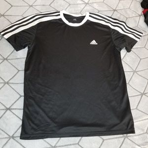 B29 Adidas Clima lite Black Sporting Shirt Large L